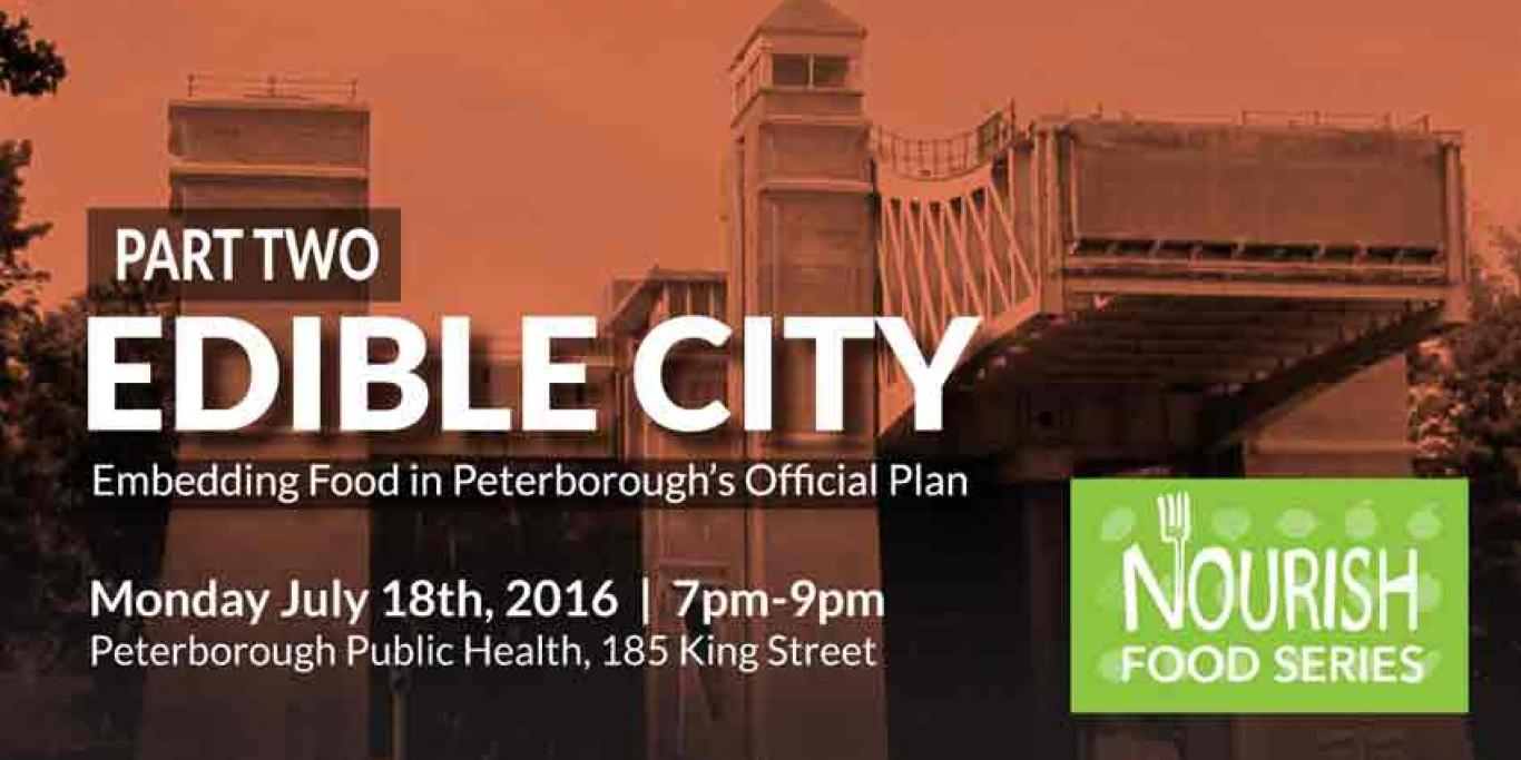 Event poster for 'Edible City Part Two'. Text repeated below.