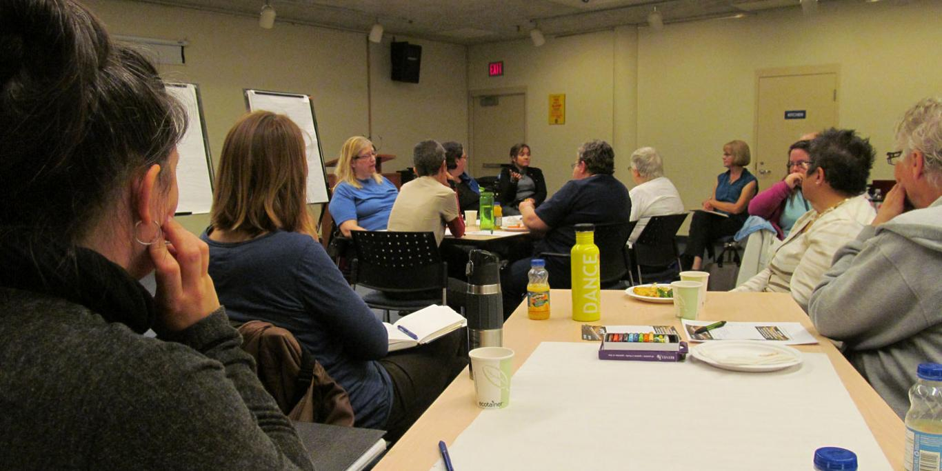 Group participating in Nourish Peer Advocacy Training