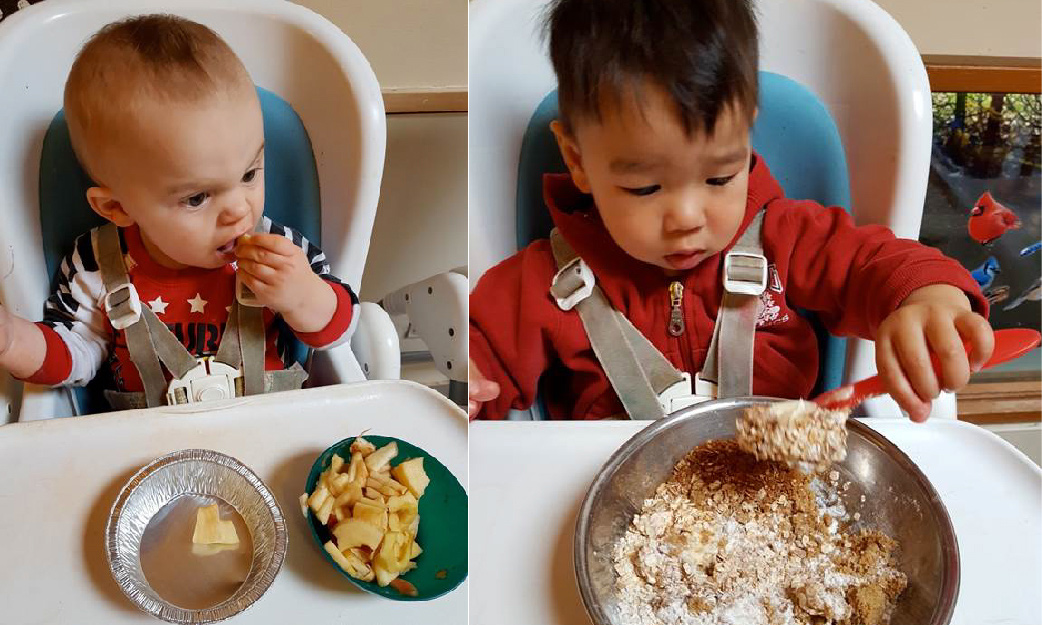 Trent Child Care - Tasting the Apple Crisp