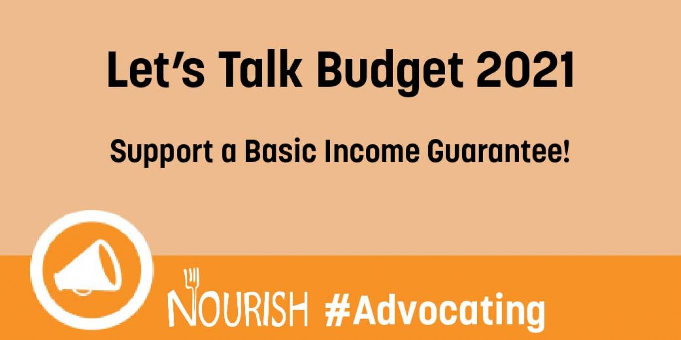 Let's Talk Budget 2021: Support a Basic Income Guarantee!